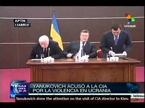 Yanukovich blames CIA for violence in Ukraine
