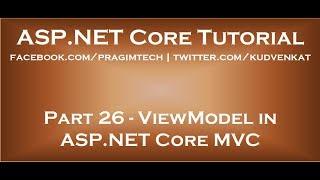 ViewModel in ASP NET Core MVC