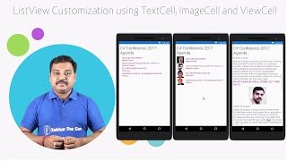 Xamarin Forms Listview Customization Using TextCell, ImageCell and ViewCell