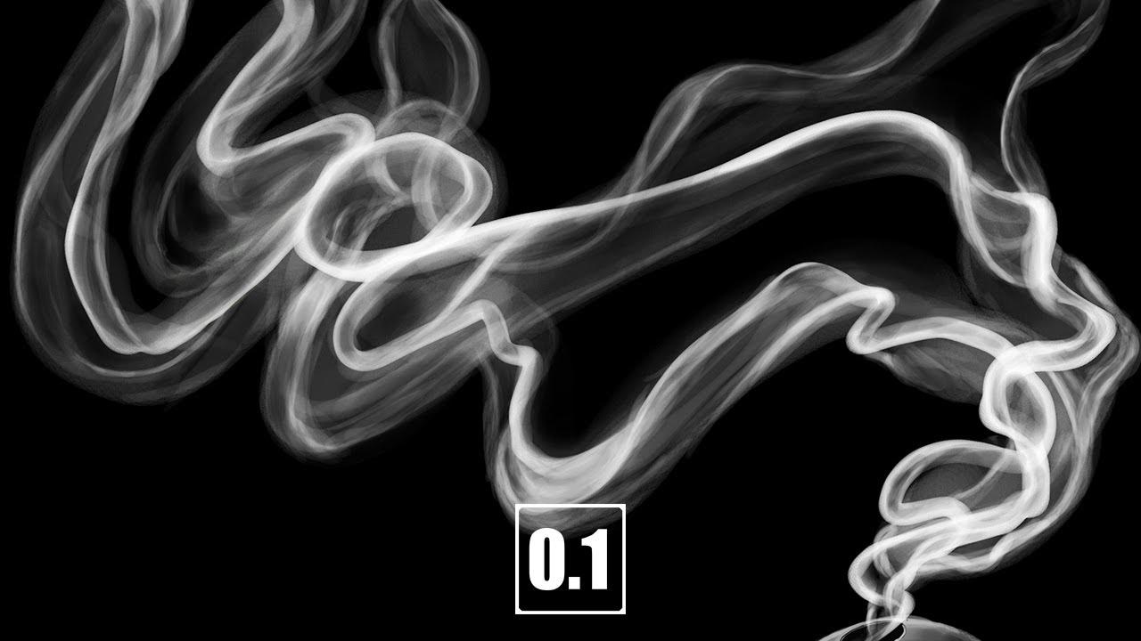 0.1up】帯のように漂う煙の描き方 - YouTube