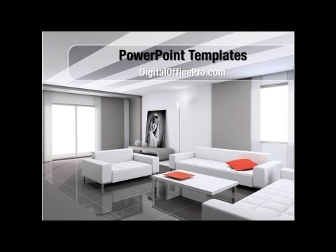 Interior Design Of Living Room PowerPoint Template Backgrounds