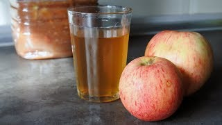 Яблочный уксус. Как сделать домашний уксус. Уксус рецепт