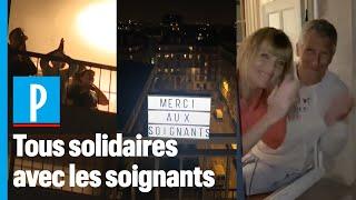 Applaudissements: de plus en plus de Français rendent hommage aux soignants