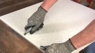 How to Cut Ceiling Tiles