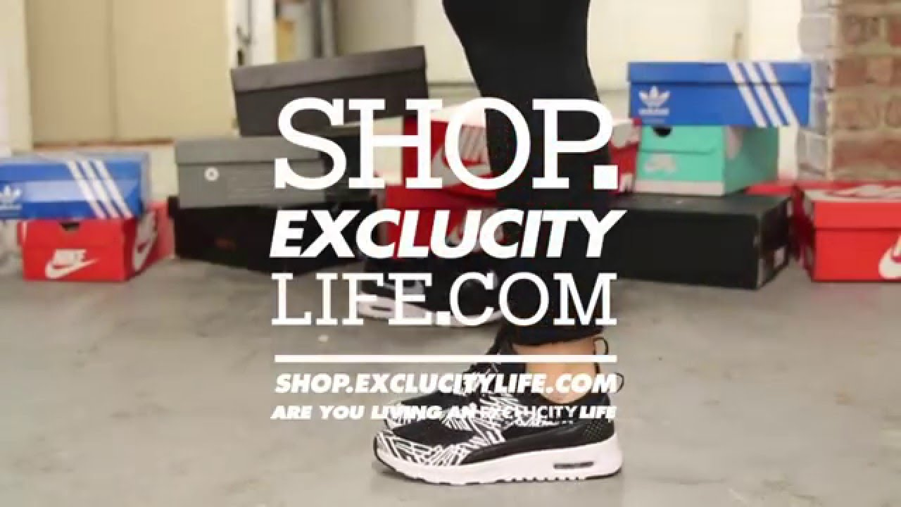 4970b0c029 ... Womens Nike Air Max Thea Print Black White On feet Video at Exlcucity.  EXCLUCITY ...