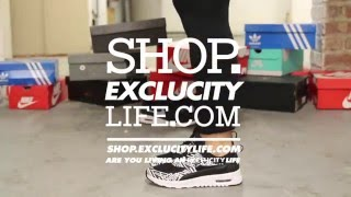 Women's Nike Air Max Thea Print Black White On feet Video at Exlcucity
