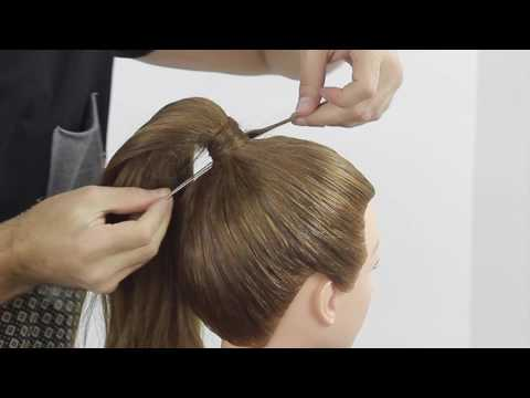 Ponytail without rubber band and without pin! Farrukh Shamuratov