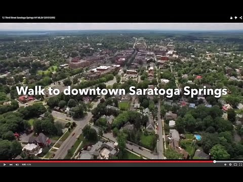 Drones Over Homes For Sale | 12 Third St in Saratoga Springs, NY