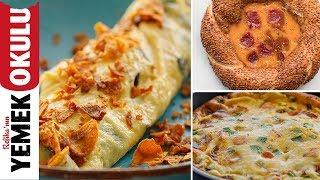 3 Gurme Yumurta Tarifi ( Pofidik, Mantarlı Çıtırtılı ve Simitli ) | Kahvaltı Tarifleri