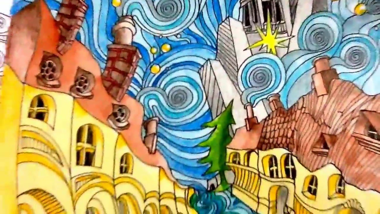 Th the magical city colouring in book - Magical City A Coloring Book By Lizzie Mary Cullen 6 Completed Pages