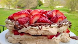 Nutella and Strawberries Pavlova Recipe - The Perfect Summer Dessert