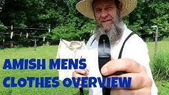 AMISH MEN'S CLOTHES OVERVIEW