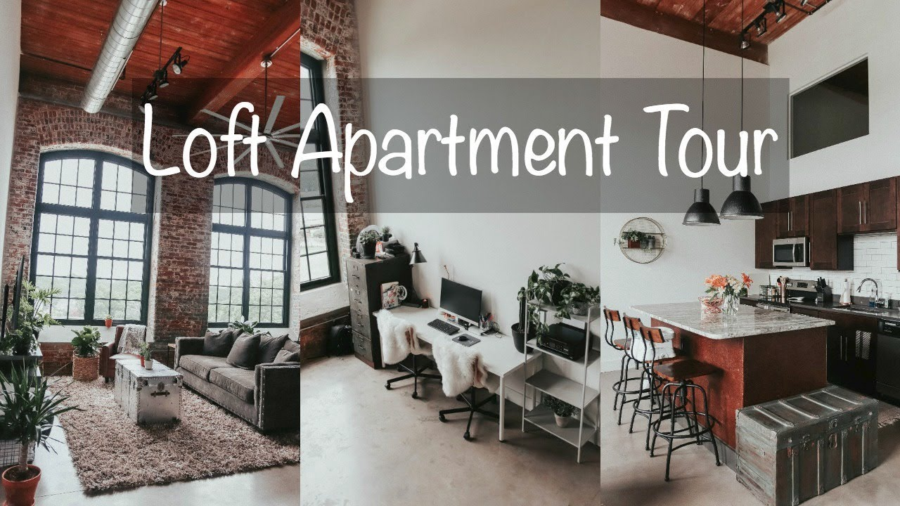 INDUSTRIAL LOFT APARTMENT TOUR! - YouTube