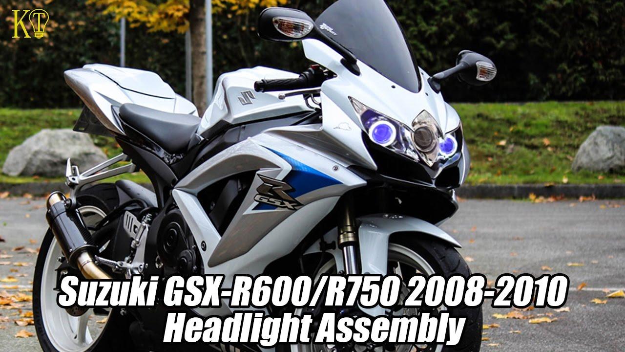Kt custom headlight assembly fit for suzuki gsx r600 750 2008 2010