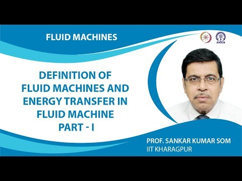 Definition of Fluid Machines and Energy Transfer in Fluid Machine Part - I