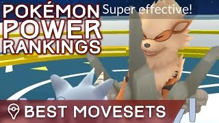 BEST MOVESETS FOR ALL POKÉMON + OVERALL POWER RANKINGS IN POKÉMON GO