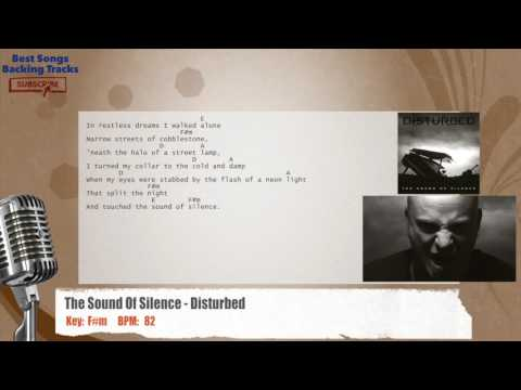 The Sound Of Silence - Disturbed Vocal Backing Track with chords and lyrics