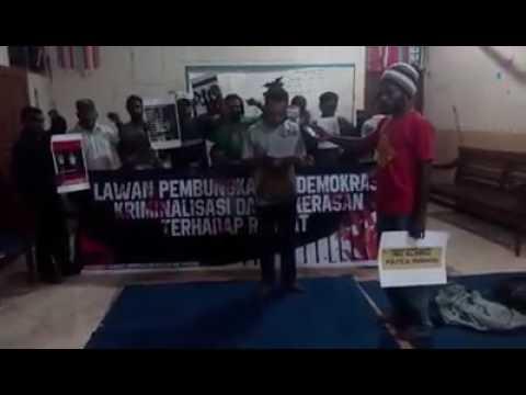 Video, Foto Dan 7 Pernyatan Sikap Solidaritas Untuk Papua Surabaya