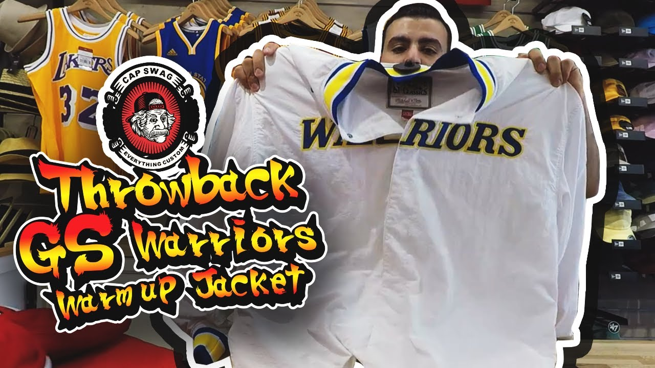 newest 56c9f adf63 Mitchell & Ness Throwback Golden State Warriors Warm up Jacket