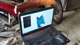 Scan 3d mẫu tuabin và thiết kế 3d mẫu làm khuôn gia công cnc