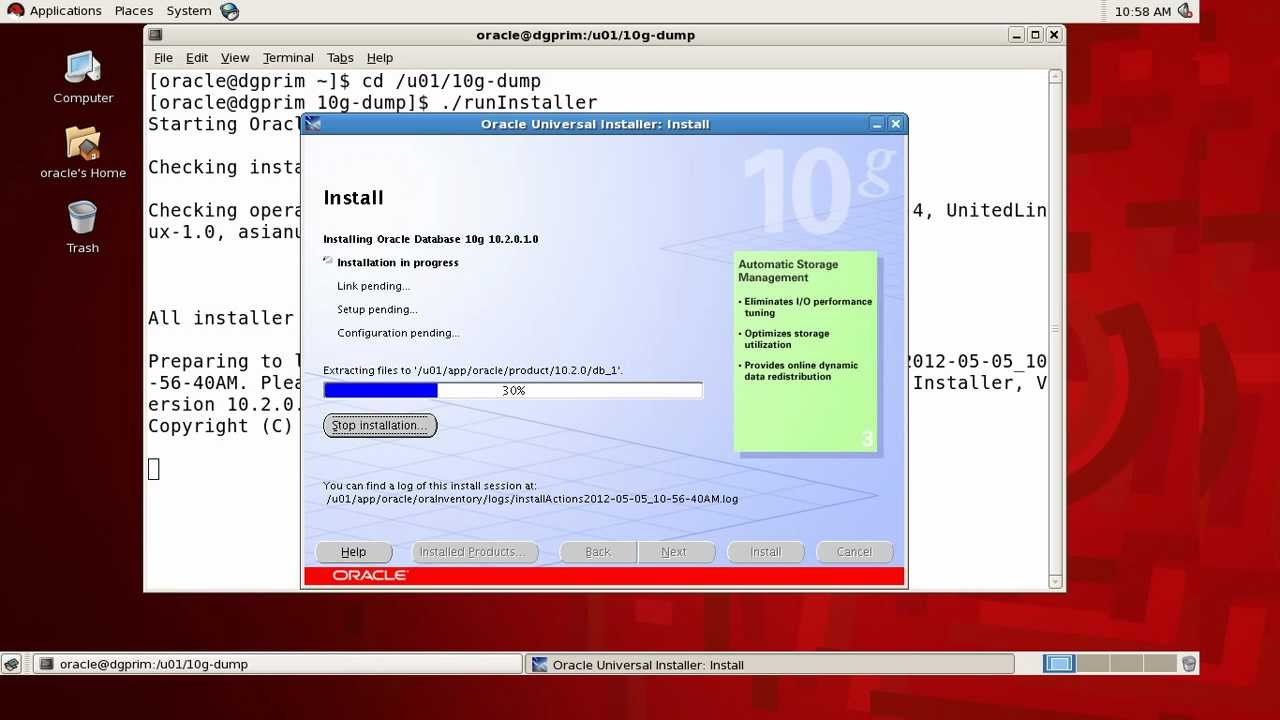 oracle 10g installation on Linux