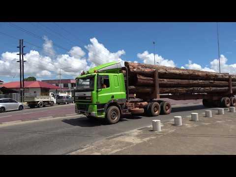 Trucks, trucks, trucks, Parimaribo, Surinam, 2 OCT 2017