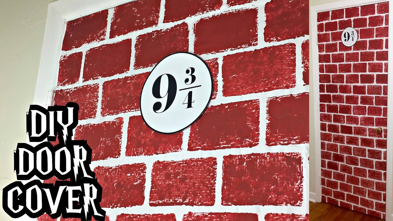 DIY Platform 9 3/4 door cover (Harry Potter) - YouTube