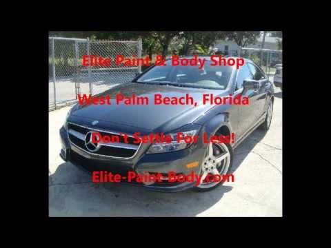 West Palm Beach Auto Body Repair Shop  - 2014 Mercedes CLS550 Repair
