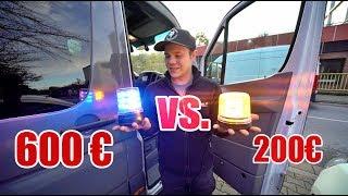 BILLIG vs.TEUER 😳  - blau / gelb Kennleuchte 🚨🔥| ItsMarvin