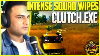 INTENSE GAMEPLAY - CLUTCH EXE - SQUAD WIPES -  PUBG MOBILE