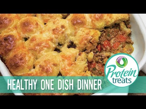 Gluten Free Beef Biscuit Casserole Recipe Protein Treats by Nutracelle
