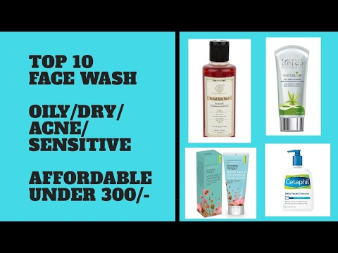 TOP 10 BEST FACE WASH | OILY / DRY / SENSITIVE/ ACNE PRONE  | Affordable face wash Budget Friendly