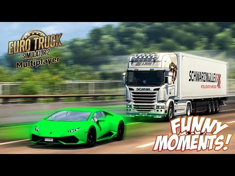 Euro Truck Simulator 2 Multiplayer Funny Moments & Crash Compilation #73