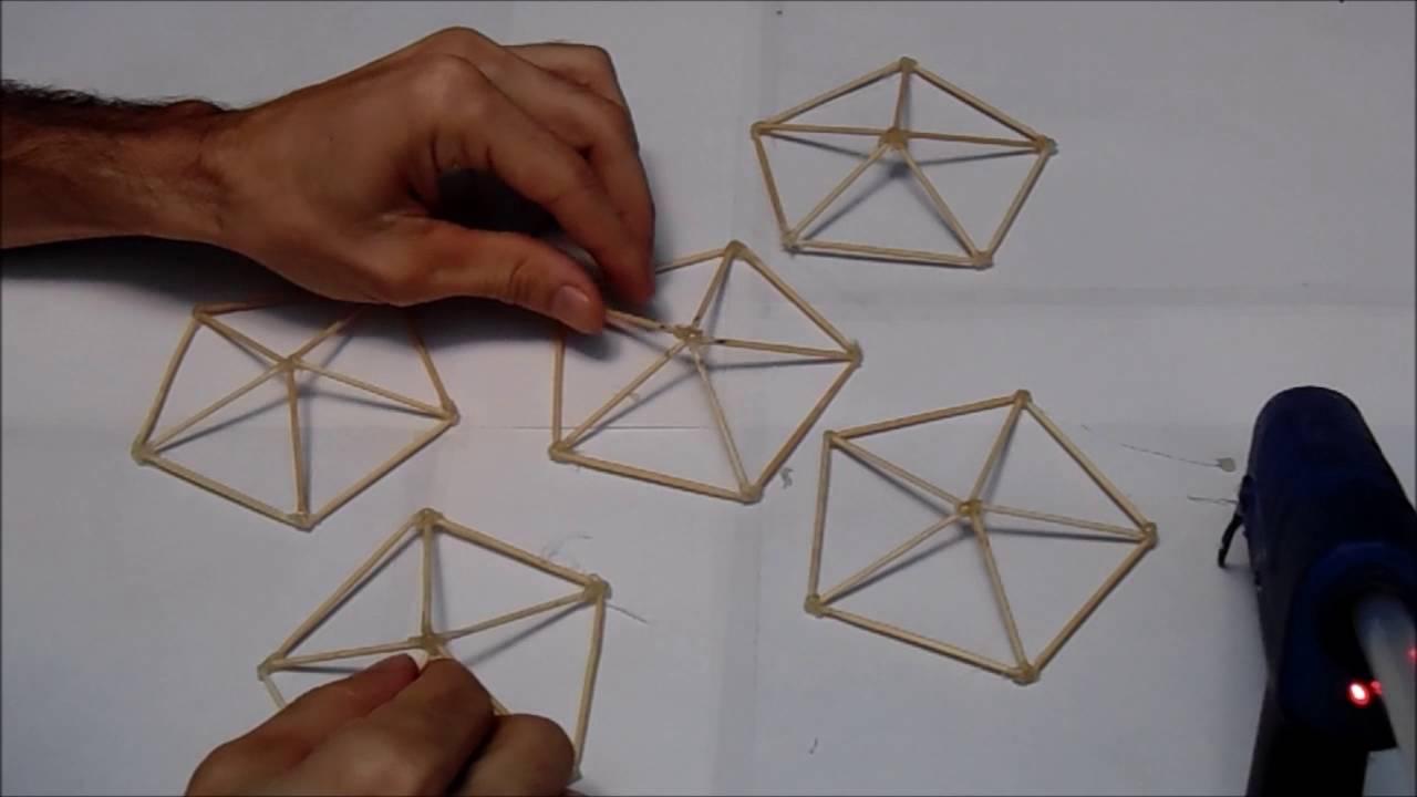 Construccion de un domo geodesico o decaedro youtube for Construccion de un vivero paso a paso