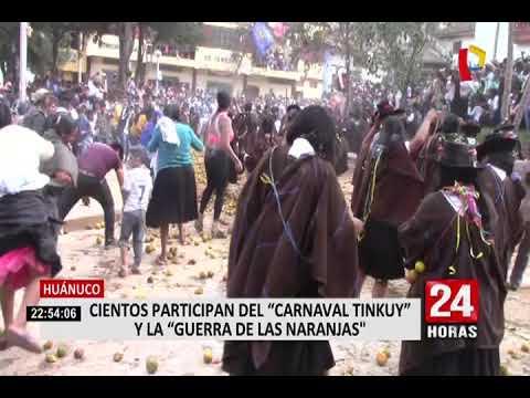 """huánuco:-se-celebran-el-carnaval-del-tinkuy,-conocido-como-la-""""guerra-de-naranjas"""""""