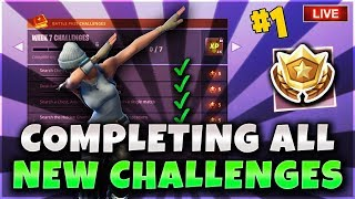 Fortnite Battle Royale Completing All New Week7 Challenges! New Raven Skin! 593 Current Wins PS4 PRO