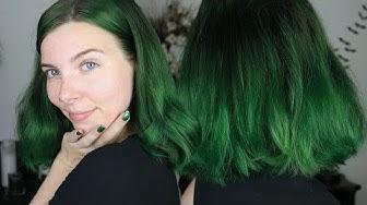 DARK GREEN HAIR Dunkelgrüne Haare (auswaschbar ohne Schäden)