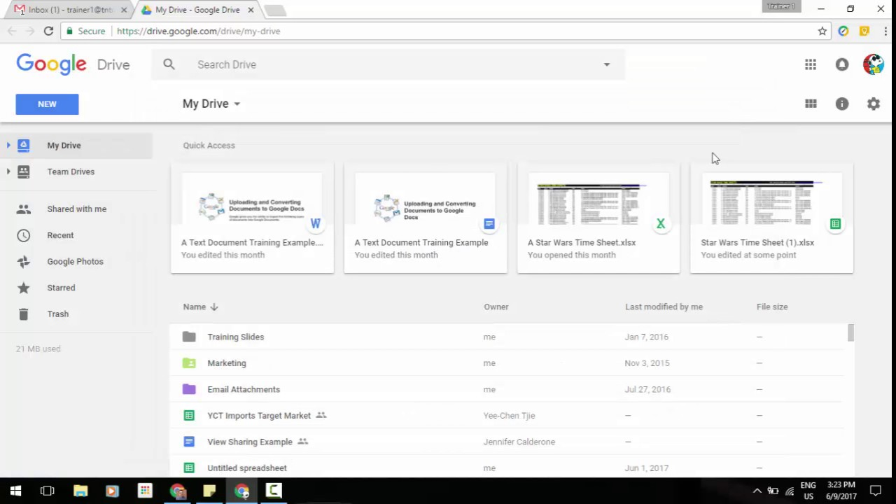 Quick Access in Google Drive now available on the web