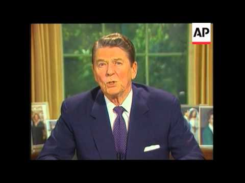 President Reagan Addresses The Nation On Iran-Contra Affair - 1987