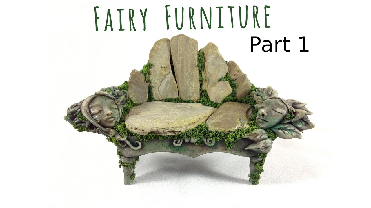 How to Make Fairy Furniture Out of Clay Rocks Part 1 DIY Fairy