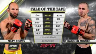 Fight of the Week: Darrick Minner Adds Another First Round Finish to His Collection at RFA 30