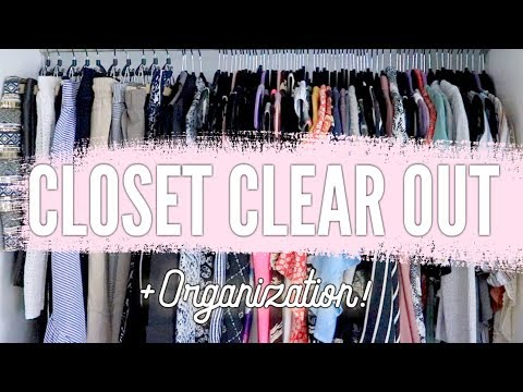 How To: Closet Clear Out + Closet Organization