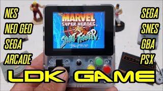 LDK GAME Handheld review. Play ARCADE, NEO GEO, GBA, SNES, SEGA, PSX and more