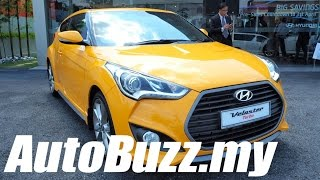 2015 Hyundai Veloster 1.6L Turbo launch in Malaysia AutoBuzz.my смотреть