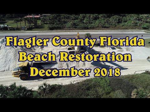 Flagler Beach Florida Beach Restoration December 2018