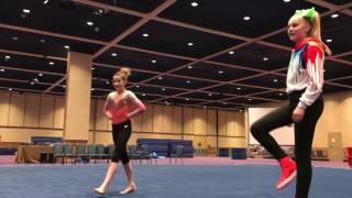 JoJo Siwa doing gymnastics