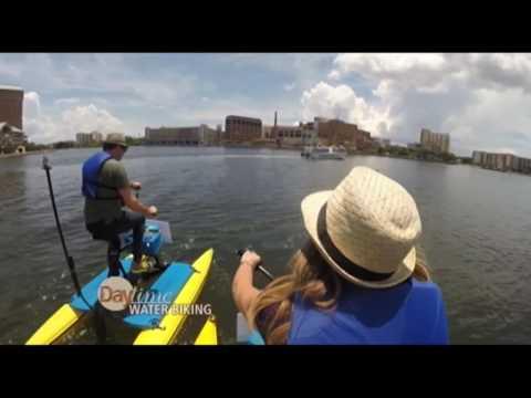 Cyndi Edwards goes water biking with Jerry Penacoli