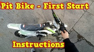 Pit Bike, Dirt Bike 110ccm - First Start - Instructions + Test Ride Storm from Nitro Motors