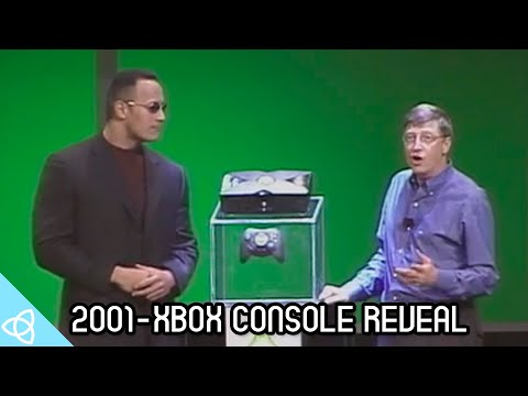 2001 - Xbox Console Reveal with The Rock and Bill Gates