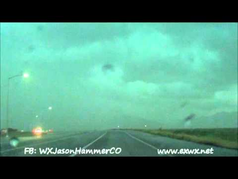 Wheat Ridge / Arvada, CO Tornado Warned Storm - 5-24-14
